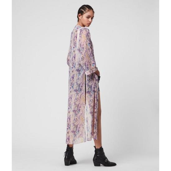 Allsaints En Solde Kimono Imprimé Carine Masala