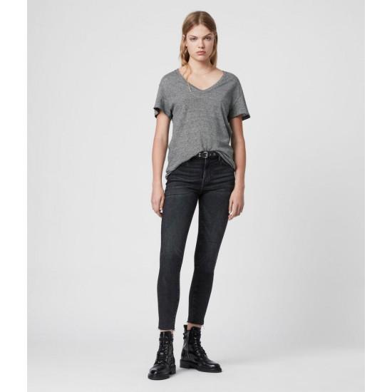 Allsaints En Solde T-Shirt à Rayures Mia Lin