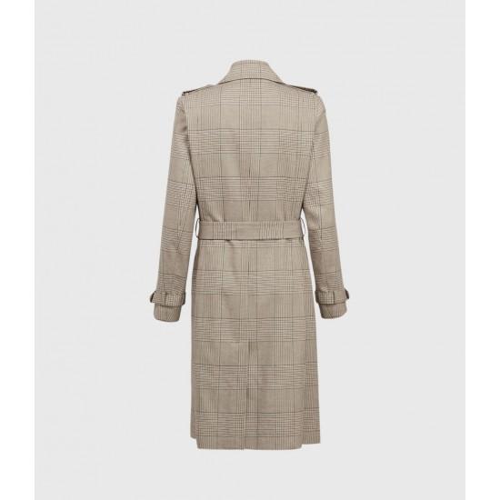 Allsaints En Solde Chiara Check Trench Coat