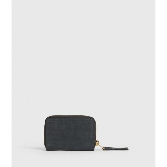 Allsaints En Solde Nantes Croco Leather Cardholder