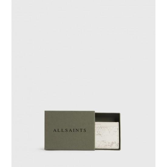 Allsaints En Solde Porte-Cartes Effet Serpent Anabel