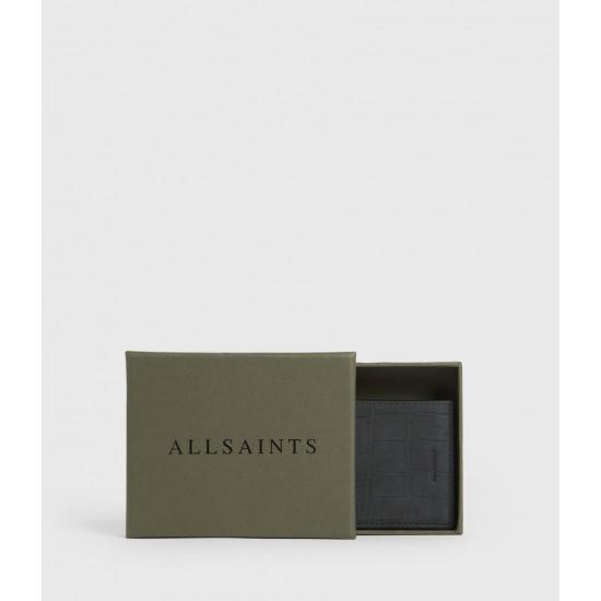 Allsaints En Solde Anabel Croc Leather Card Case